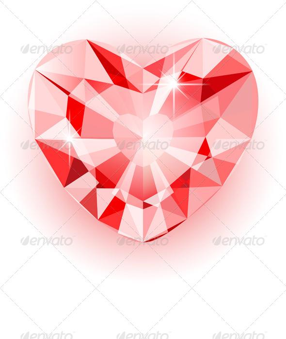 GraphicRiver Diamond Heart 6482954