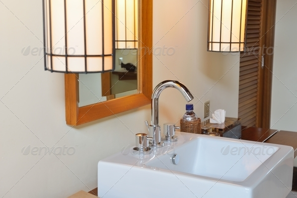 Luxury modern bathroom - Stock Photo - Images