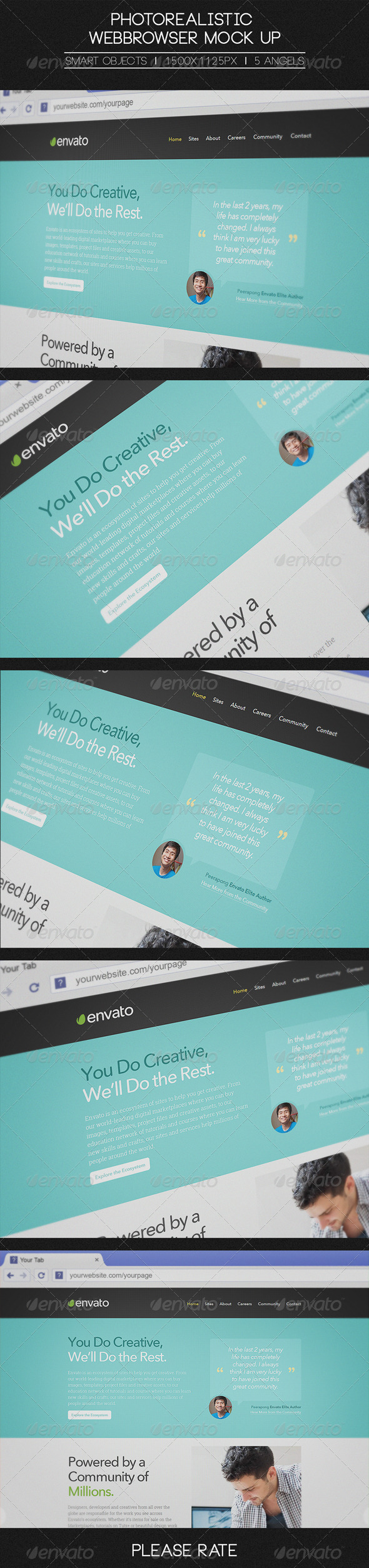GraphicRiver Photorealistic Webbrowser Mock-Up 6482991