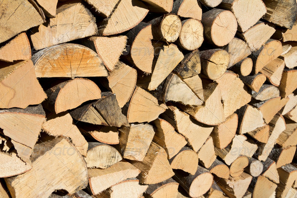 Chopped Wood - Stock Photo - Images