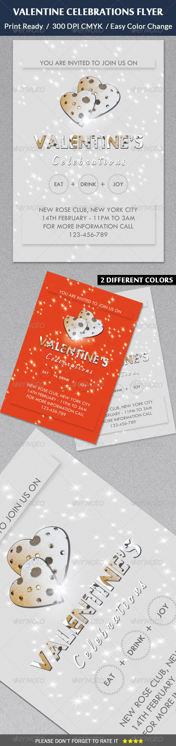 GraphicRiver Valentine s Day Celebrations Flyer Template 6483046