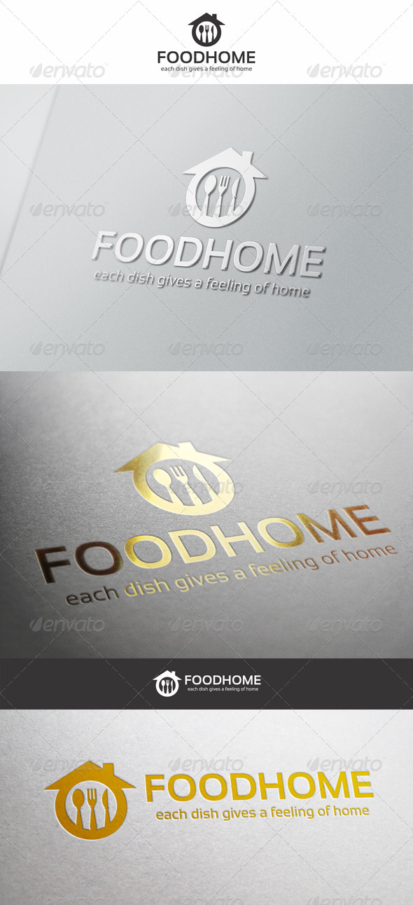 Food Home Cuisine Logo - Food Logo Templates