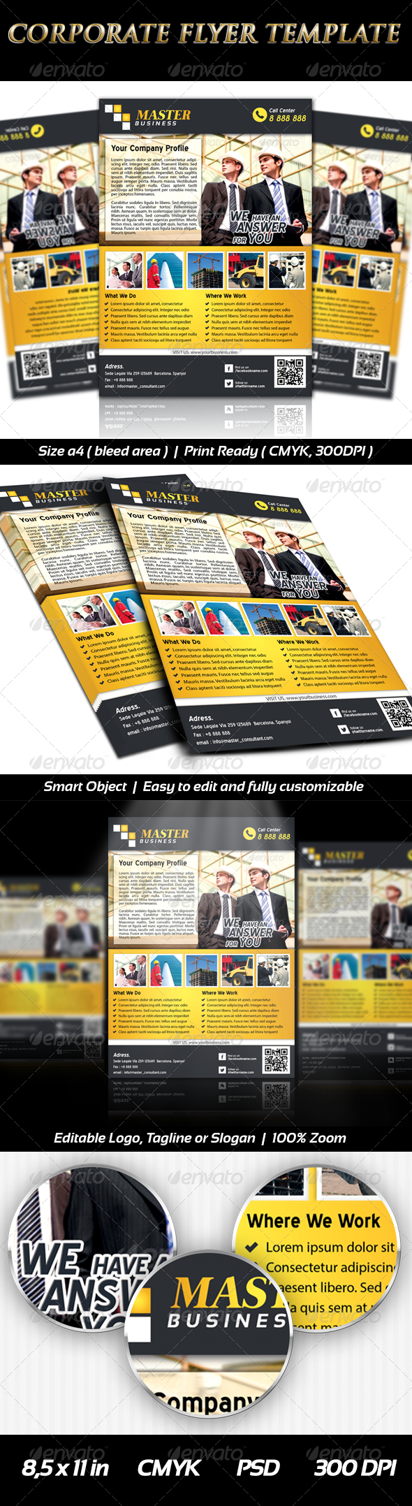 GraphicRiver Corporate Business Flyer Templates Professional 6448893