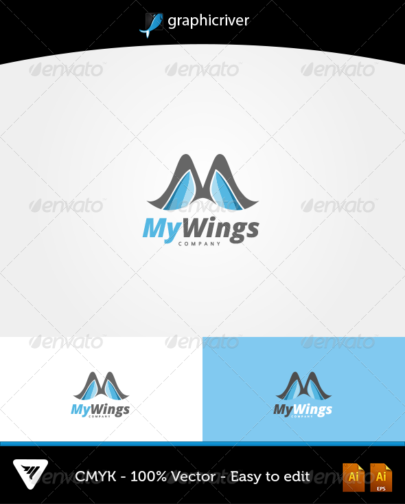 GraphicRiver MyWings Logo 6483303