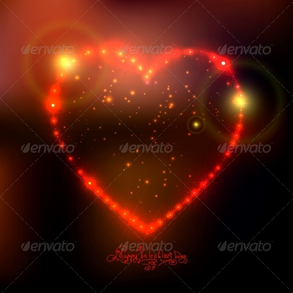 GraphicRiver Love Heart Background from Bright Stars 6483441