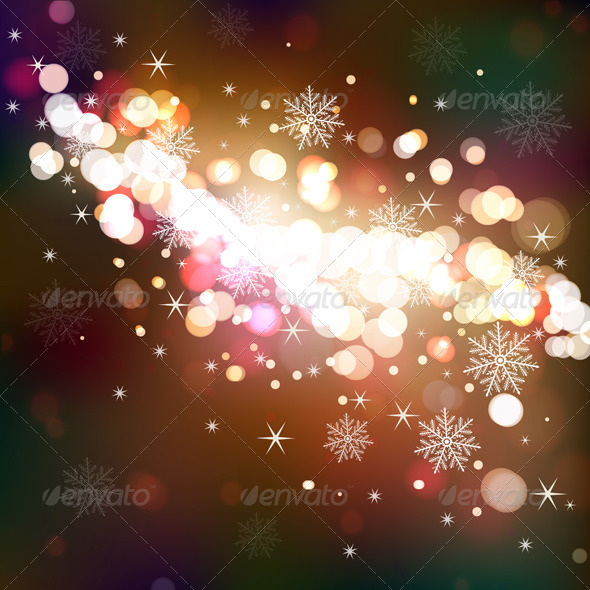 GraphicRiver Winter Shining Background 6483494