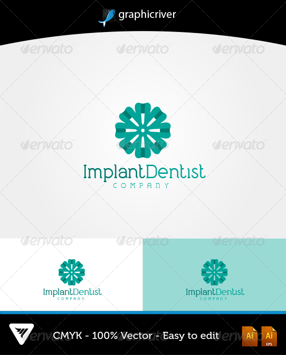 GraphicRiver ImplantDentist Logo 6483511