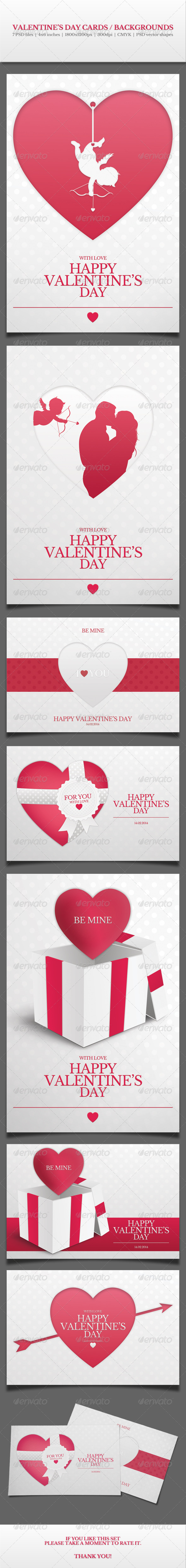 GraphicRiver Valentine s Day Cards Backgrounds Vol.1 6483532