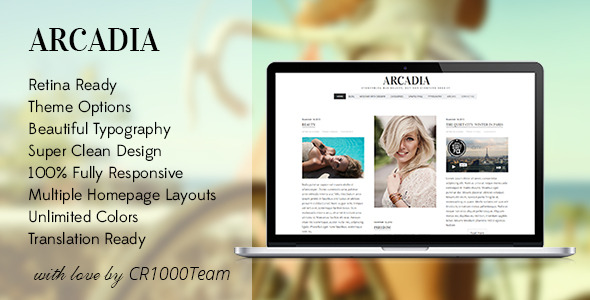 Arcadia - Responsive WordPress Blog Theme