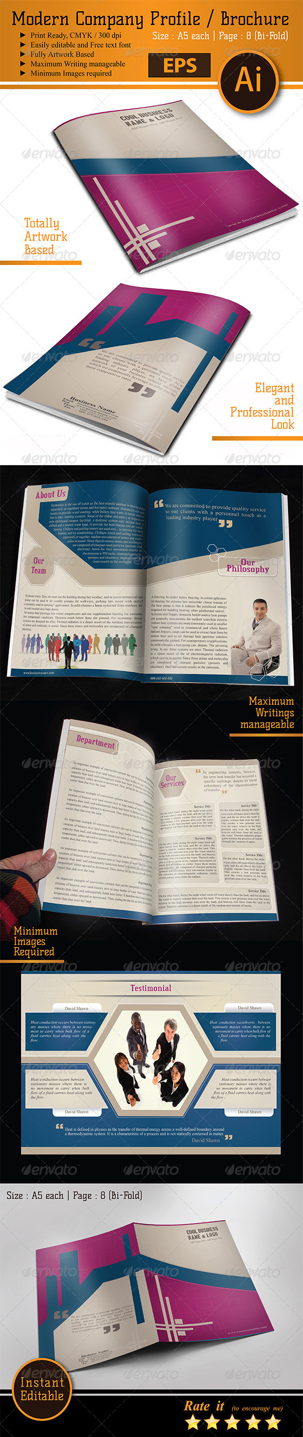 GraphicRiver Company Profile Corporate Brochure 6452394