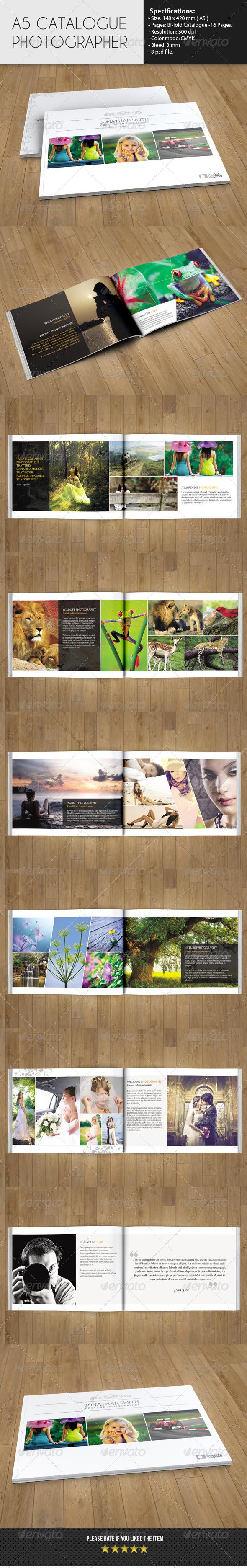 GraphicRiver Bifold Catalog Photographer 6449675