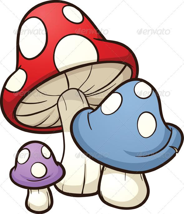 GraphicRiver Cartoon Mushrooms 6484039