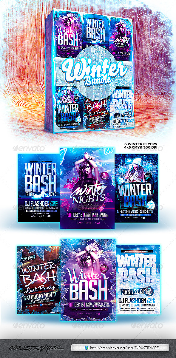 GraphicRiver Winter Flyer Bundle 6484445