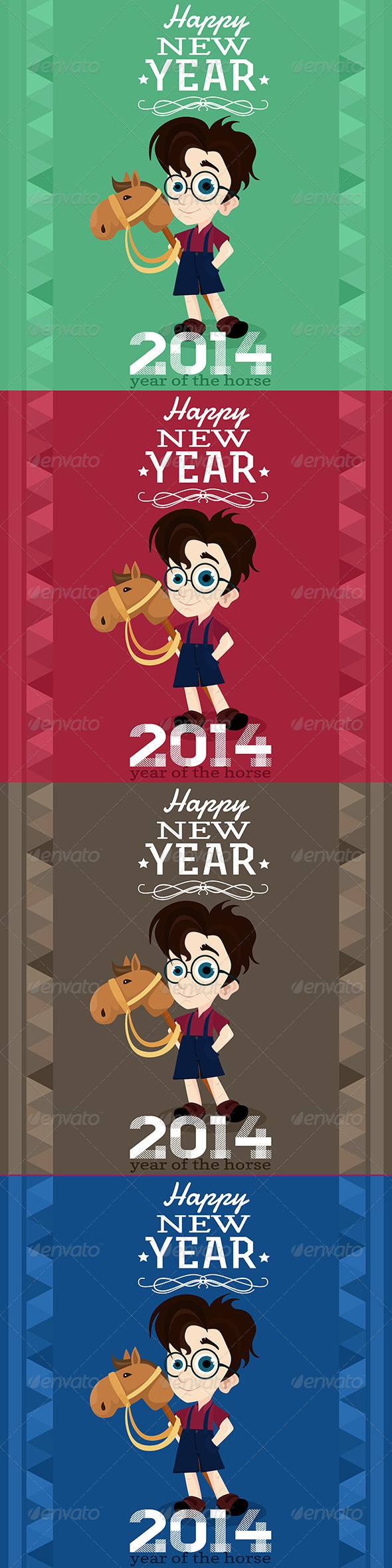GraphicRiver 2014 Greeting Card Year of the Horse 6484510