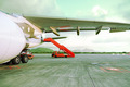 Airplane parked in airport - PhotoDune Item for Sale