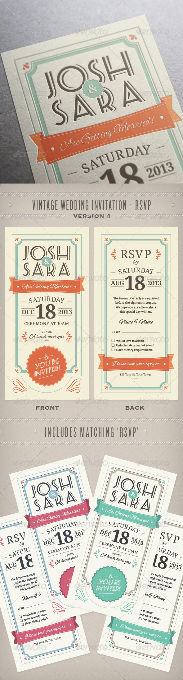 Wedding Invitation & RSVP - Weddings Cards & Invites