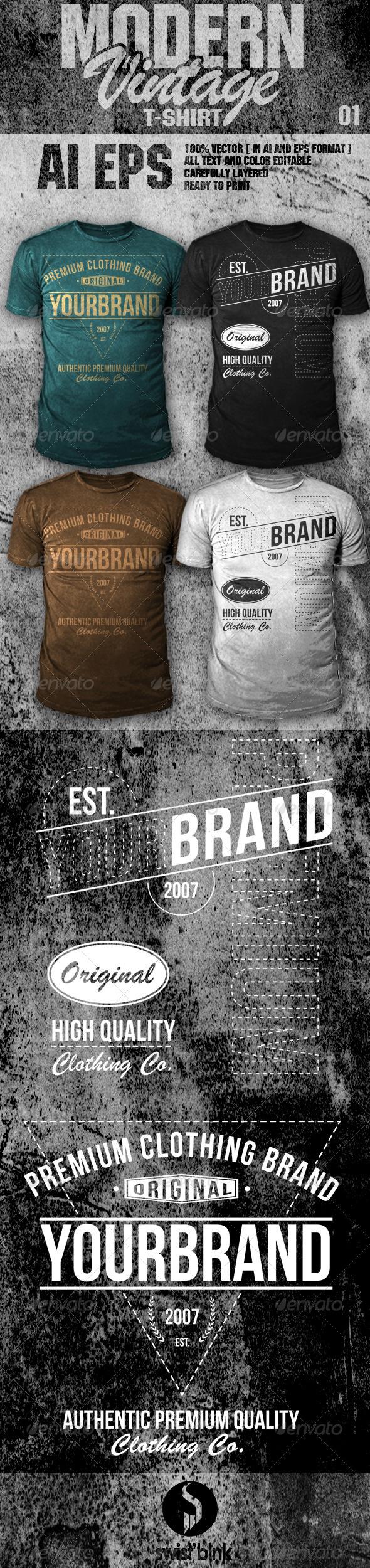 GraphicRiver Modern Vintage T-Shirt 01 6485018