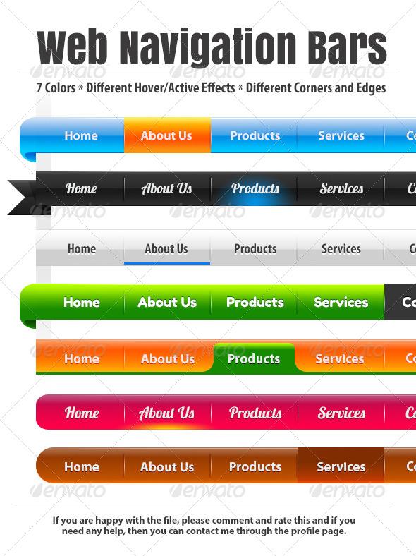 GraphicRiver Custom Web Navigation Bars 6485035