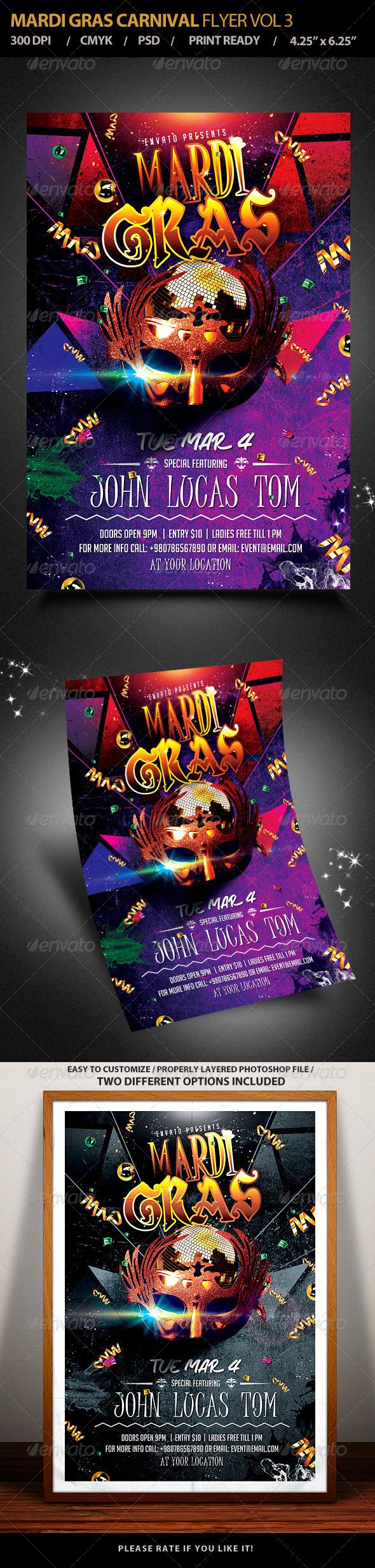 GraphicRiver Mardi Gras Carnival Party Flyer Vol 3 6485036