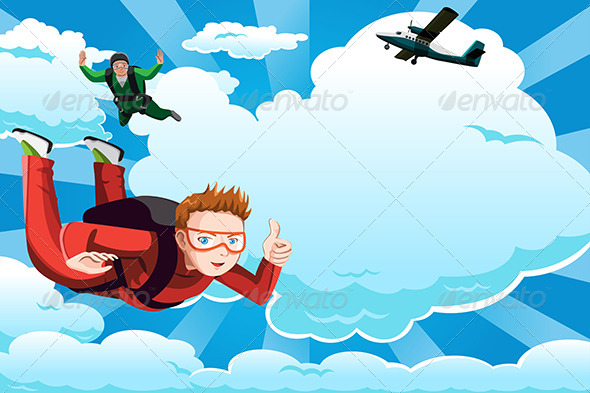 GraphicRiver Skydiving 6485066