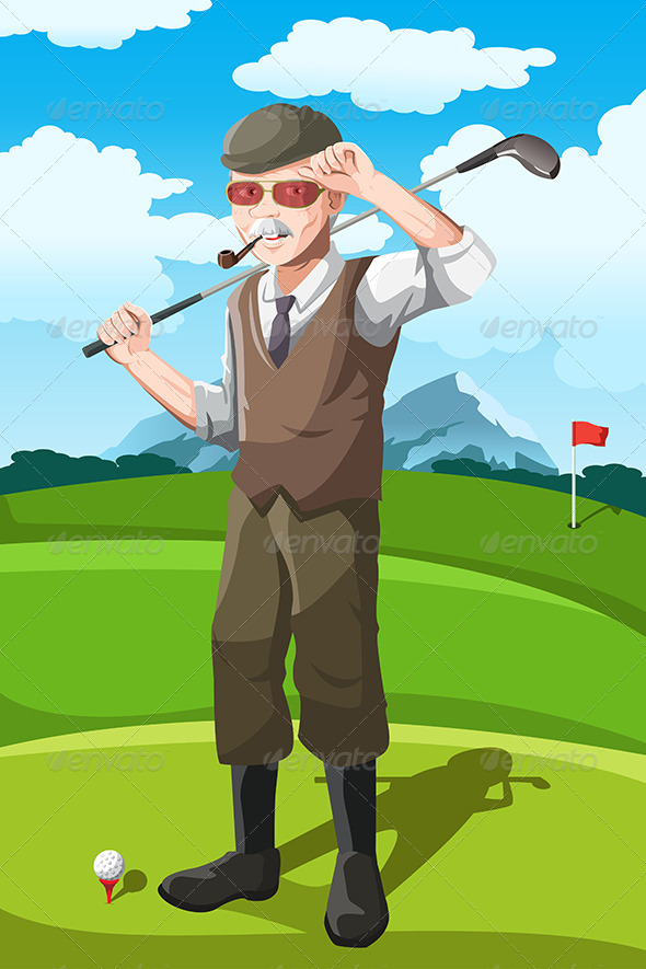 GraphicRiver Senior Golfer 6485085