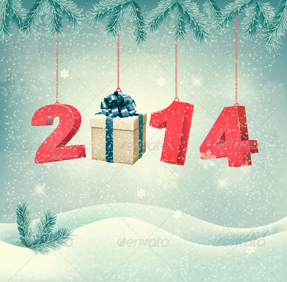 GraphicRiver New Year Design Template Vector 6485091