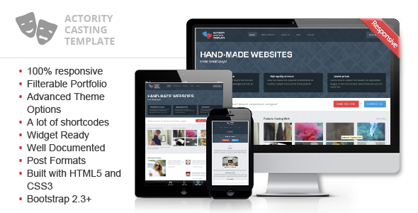 ThemeForest Actority WordPress Template for Casting Agencies 5937109