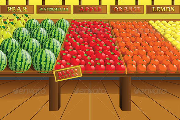 GraphicRiver Grocery Store Produce Aisle 6485115