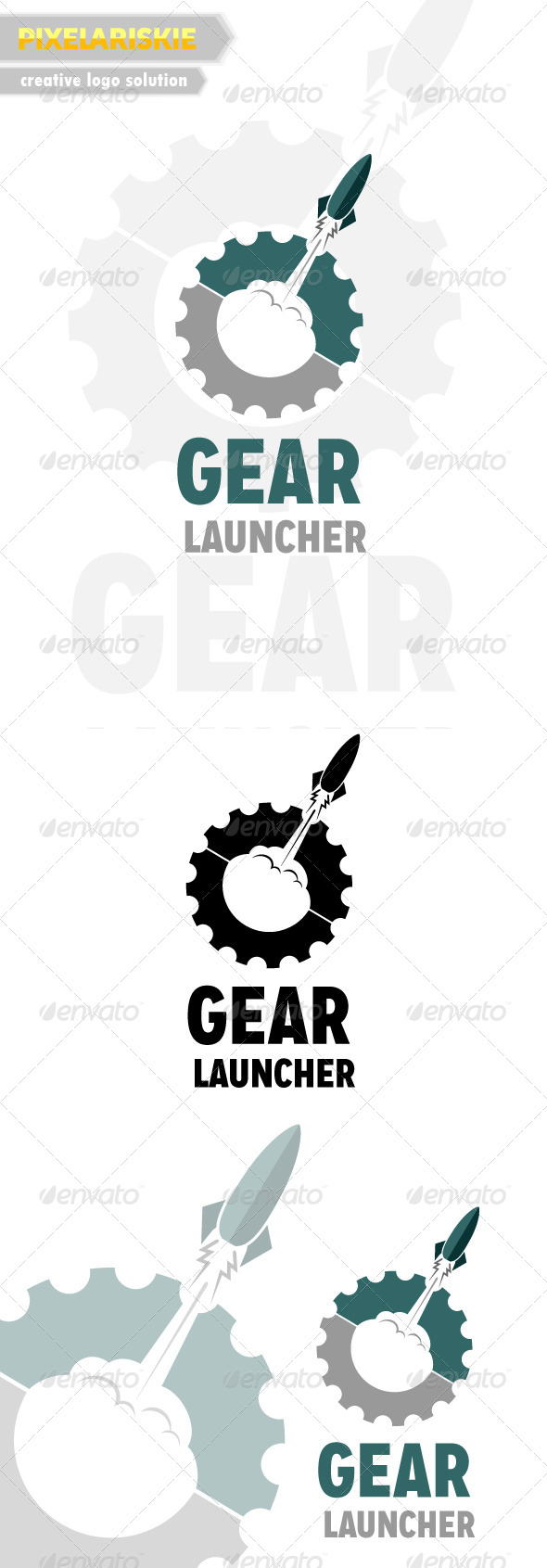 GraphicRiver Gear Launcher Logo 6485132
