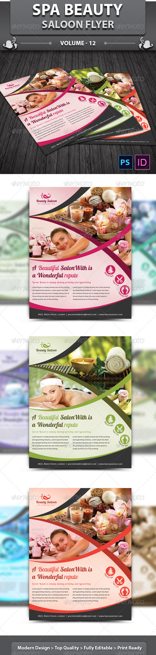 GraphicRiver Spa Beauty Saloon Flyer v12 6485285