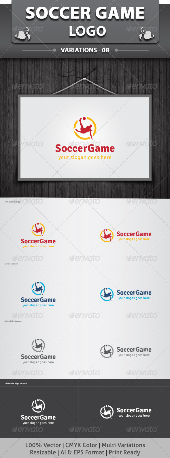 GraphicRiver Soccer Game Logo 6485623