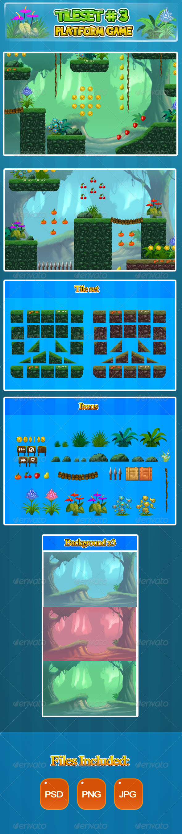 GraphicRiver 2D Tileset Platform Game 3 6485663