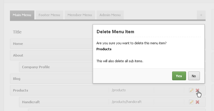 Easy Menu Manager