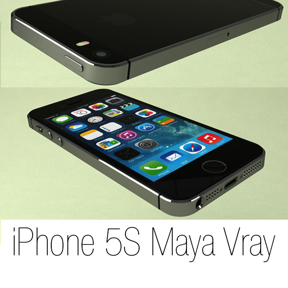 iPhone 5S Maya Vray - 3DOcean Item for Sale