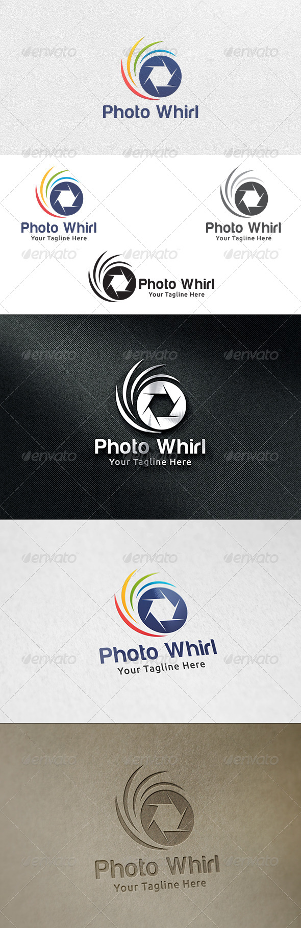 GraphicRiver Photo Whirl Logo Template 6485957