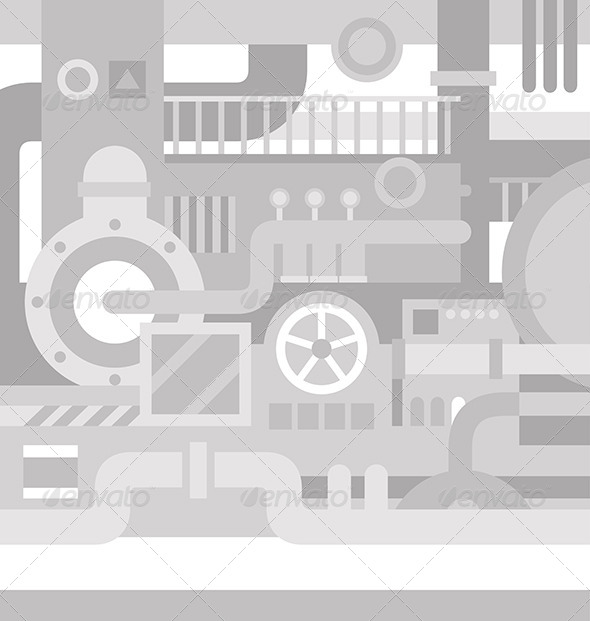 GraphicRiver Mechanical Industrial Background 6486125