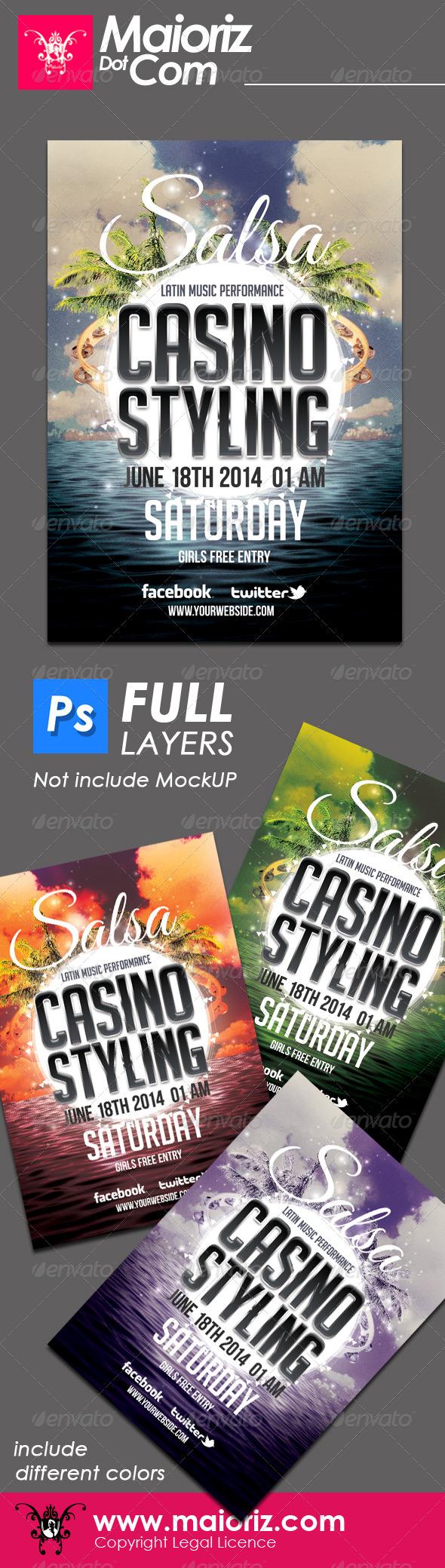 GraphicRiver Salsa Casino Flyer 6486234