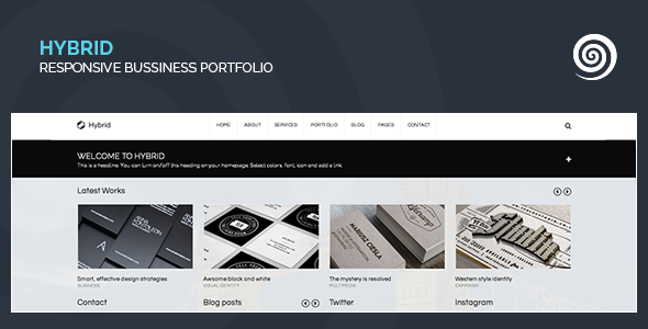 ThemeForest Hybrid Corporate & Creative Wordpress Portfolio 6341673