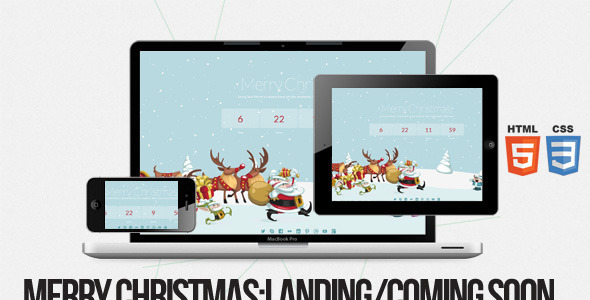 ThemeForest Merry Christmas Illustrated Animated LESS Theme 6471982