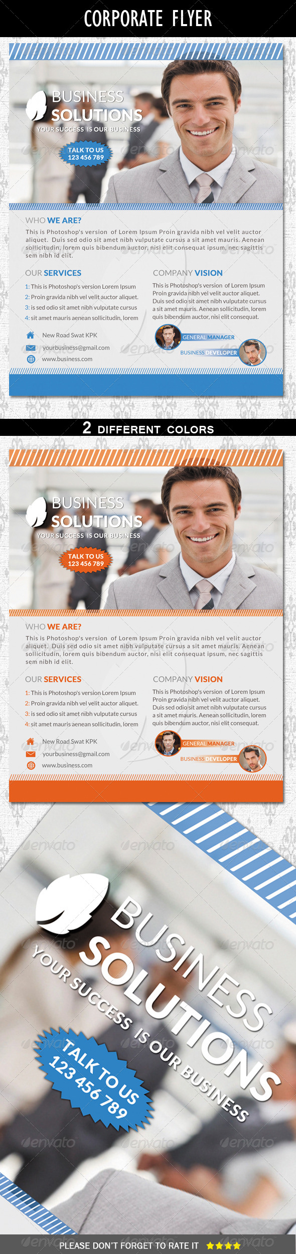 GraphicRiver Clean Corporate Flyer 6464904