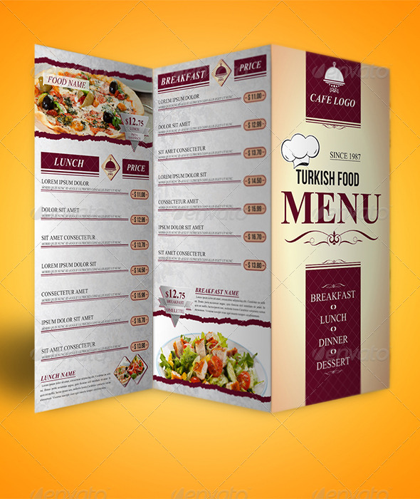 GraphicRiver Trifold Menu Template 6486419