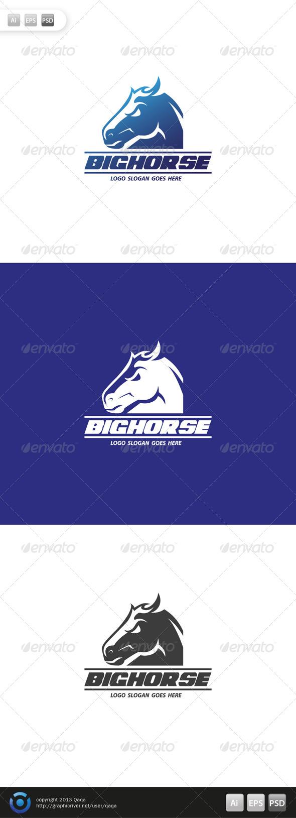GraphicRiver Big Horse Logo 6486457