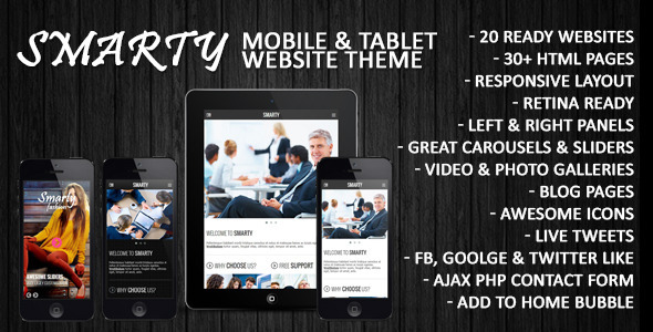 ThemeForest Smarty Mobile & Tablet Responsive Web Template 6486536