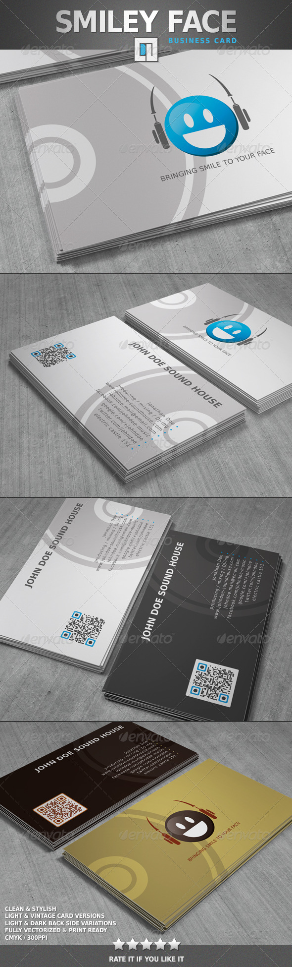 GraphicRiver Smiley Face Business Card 6462321