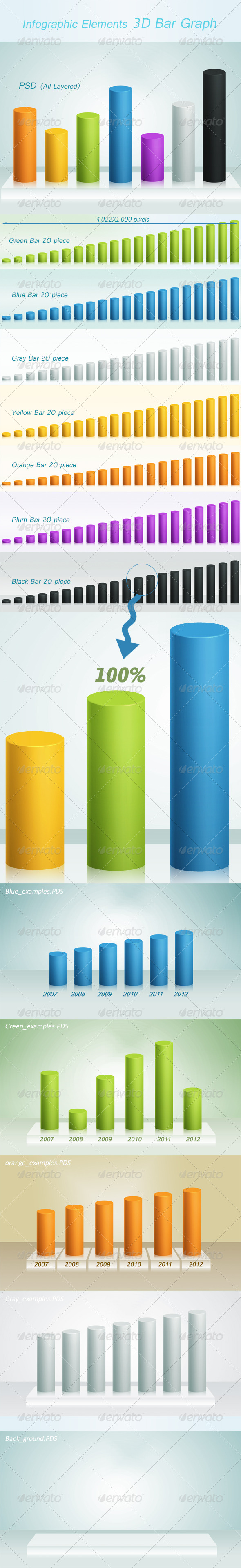 GraphicRiver 3D Bar Graph 6487121