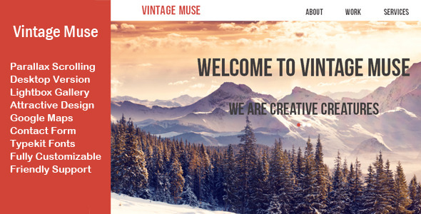 Vintage Muse Multi-purpose Template - Corporate Muse Templates