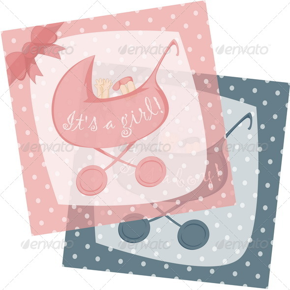 GraphicRiver Birth Announcement Cards 6487288