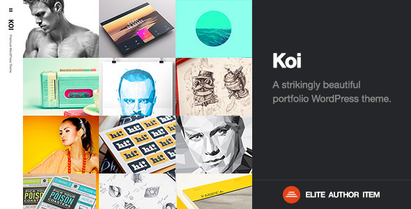 ThemeForest Koi Responsive Portfolio WordPress Theme 6487495