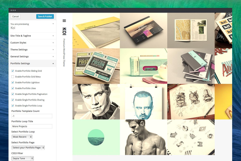 Koi - Responsive Portfolio WordPress Theme