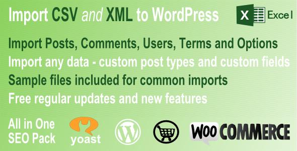 CodeCanyon CSV and XML Import Premium Wordpress Plugin 6488366